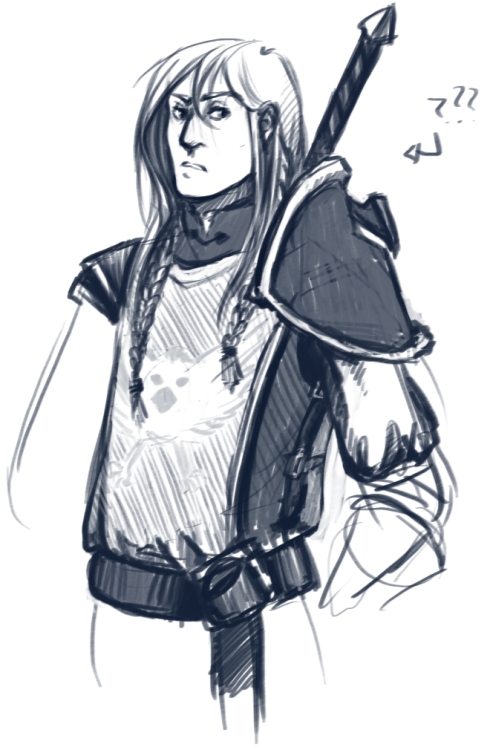 … everything I draw now looks like Anduin Wrynn ahhh mindless sketching while thinking about stuff. Mainly how Ruth now has a WoW canon and how I'm going to fit her personality and backstory into that… and I think it's slowly coming together really, really nicely.