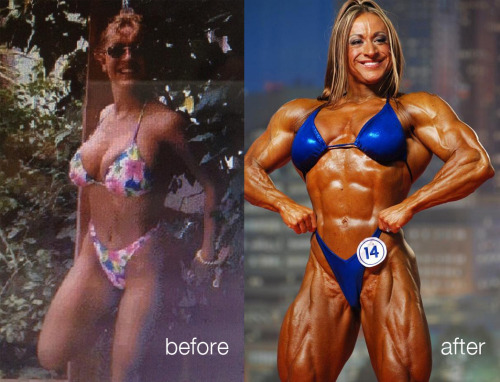 "Heather Armbrust Before & After Heather Armbrust is well known to female muscle fans for her size, beauty and OMG legs. Here's a before & after. She could pack a bikini well even in her pre-bodybuilding days. Heather is back at it and said ""Jus wait till June.. I will be a serious cartoon!"""