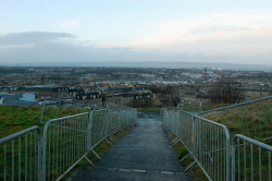 Setting up for Hogmanay on Calton Hill, Edinburgh.