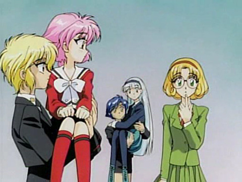 CLAMP Campus Detectives meet Magic Knight Rayearth in CLAMP in Wonderland.