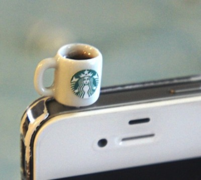 rawbdz:  Starbucks Coffee Phone Plug