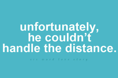 Unfortunately, he couldn't handle the distance.