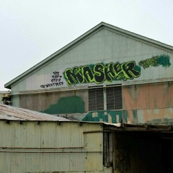 MASHER Graffiti - Oakland, CA - #masher #masherGraffiti #mash #mashGraffiti #monsterMasher #masherOakland #oaklandGraffiti #stuntManGraffiti #climbingSpots #climbingGraffiti #FriendsInHighPlaces #outOnTheLedge #spidermanStyle #respectPemex #crowningSpot #horrorFont #youCantStopTheWeather