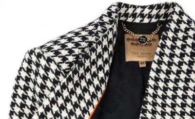 D is for DOGTOOTH || Pair this stunning Ted Baker blazer with our Pug Necklace by Adorable || #accessories #fashion #fashionideas