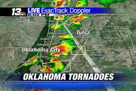 consurgo:  A devastating, two-mile-wide tornado touched down near Oklahoma City on Monday, killing at least 51 people—including at least 20 children—decimating homes, businesses and a pair of elementary schools in the suburb of Moore. According to the state's medical examiner, the death toll was expected to rise. The schools—Plaza Towers Elementary and Briarwood Elementary—were leveled by the tornado. It was unclear how many children were in them at the time the twister hit, but according to KFOR-TV, at least seven children died at Plaza Towers, and as many as two dozen more were feared to be trapped inside the rubble. An Associated Press photographer saw rescue workers pull several children out alive. A makeshift triage center was set up in the school's parking lot. Read more