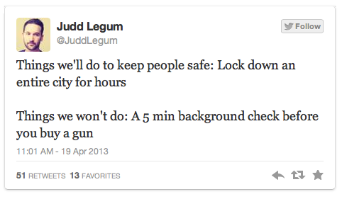 the-words-i-cannot-say:  If you're gonna compare a background check to gun safety 1. It was a bombing. 2 they were an American citizens and islamic not muslim that no one thought had disturbed thoughts and according to teachers the younger one was an outstanding student or whatever who won a scholarship. 3 i don't think either of them have a criminal history.   they were both MUSLIM, idiot…