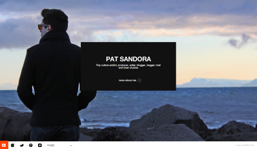 A Blog About Things.com is now PatSandora.com Finally made the move from my old domain to the new PatSandora.com last night. The new site has a cleaner design, and will be used to showcase my personal and professional works more easily.  The good news is that all of the typical posts of videos, gifs, and pop-culture info will still be there in the blog section. Tumblr users will see business as usual on their dashboards.  Don't forget to follow on Twitter, Facebook, Instagram and YouTube for additional content that may not show up here. So, what do you think of the new design?