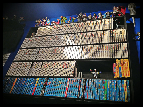 An updated pic of the Sega Saturn & CD collection! Earthworm Jim is valiantly protecting the space that will be taken up by the final 12 Saturn games needed to have all the US titles. CD-32x is complete, but regular Sega CD is only about halfway to completion.