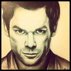 #dexter #art #portrait #sketch #artist #doodle #pencil #graphite #michael #actor