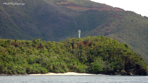 passed by a lighthouse in an unknown island on our way to Siargao Island, Philippines