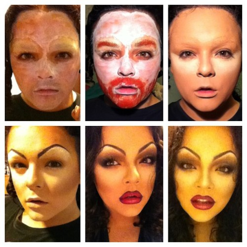 Drag can be an ugly process but PERFECTION takes time! #drag #transformation #dragtransformation #dragrace #dragqueen #dragmakeup #dragopolis #dragqueensforabettertomorrow #trans #tranny #trannies #transgender #trannylicious #gay #gays #gayboy #gaygay #gayguy #gaymen #boysinmakeup #makeup #beatface #mug #painted #paintedforfilth