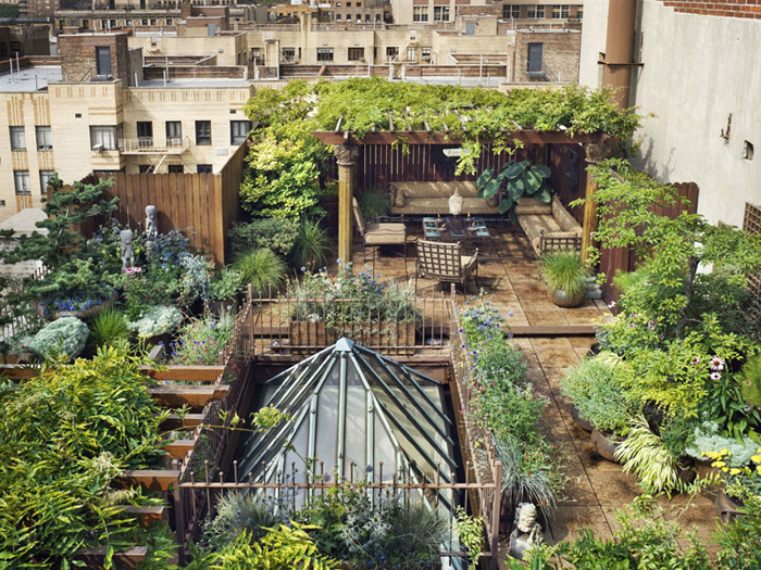 Next visit to NYC this Penthouse Garden Paradise a Manhattan Rooftop Garden Project in Chelsea. madamecuriewasmymother:
