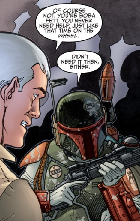 "From ""Agent of the Empire: Hard Targets"" #5. During the confrontation between agent Johan Cross and bounty hunter Boba Fett, Cross hints at a past encounter the two men had. Will we ever see that story told?"