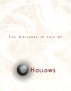 davidcurtisstudio:  The Universe is Full of Hollows 2 hour type design