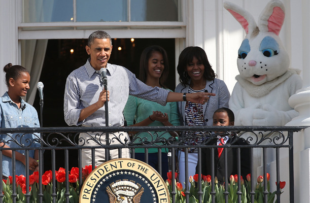 ccindecision:  Despite all the photos from the White House Easter Egg Roll, we haven't seen a single shot of the Easter Bunny and Joe Biden together. Just sayin'. Photo by Mark Wilson/Getty Images News/Getty Images