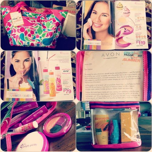 Thank you to my @avonph family for my summer goodies!!! 😊💄👛🎀