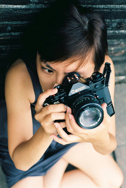 Girl with film camera by Pankha Nikon on Flickr.Via Flickr: Nikon FM Kodak Ektar 100 Film