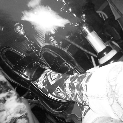therealhbk:  Hookah Bar Last Night! #fun #Dope #Cool #vintage #fly #style #hookah #smoke #photography #photographer