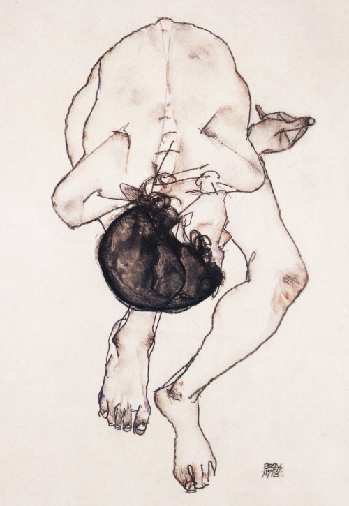 likeafieldmouse:  Egon Schiele - Nude (1913)  massive inspiration for allot of my work