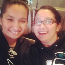 Hanging out with the family! @kkinii #bleedteal #sanjosesharks #representing #proudofourboys #letsgosharks #sharksterritory #sharktank #nhl #playoffs  (at Shark Territory)