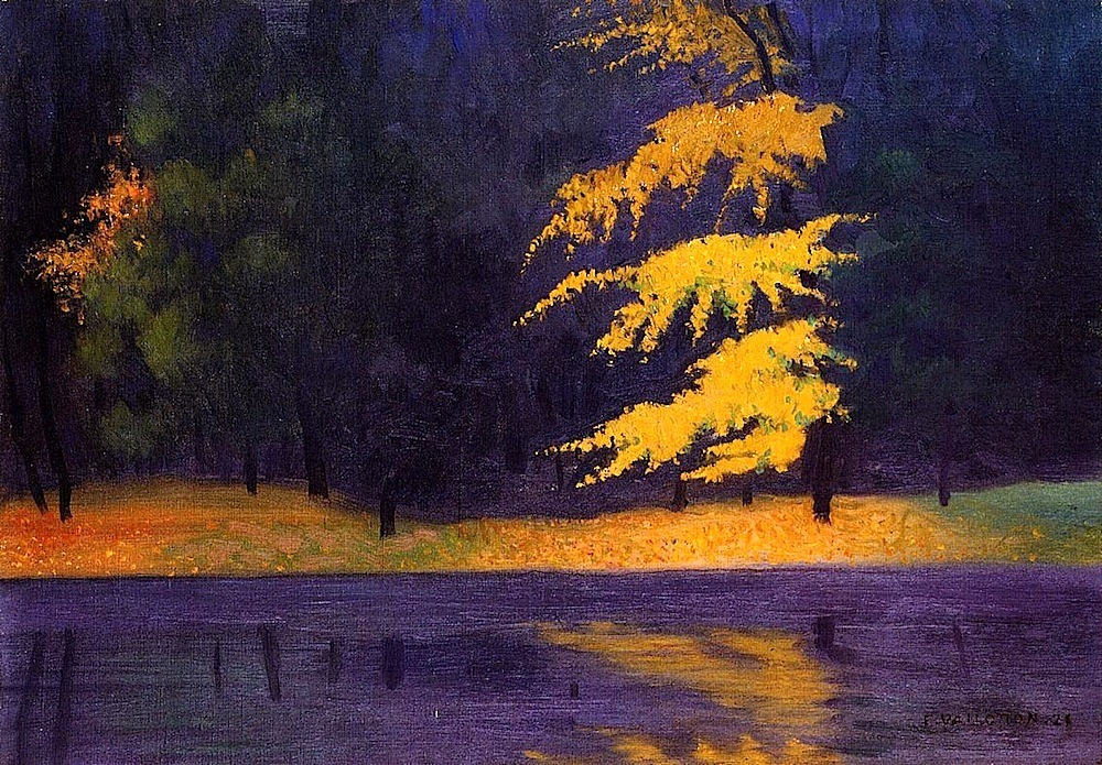 bofransson:  Félix Vallotton - The Lake in the Bois de Boulogne, 1921