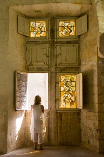 bluepueblo:  Castle Windows, Avignon, France photo via susan
