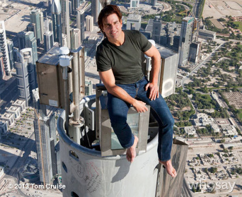 Ever wonder what Tom saw from the top of the The Burj Khalifa? http://clicky.me/WNIk7v -TeamTC #MissionImpossible(Not)View more Tom Cruise on WhoSay