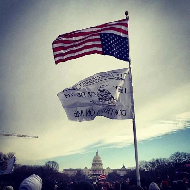 pyroveride:  YES, that is at dictator obama's inauguration! I'll stand with this guyThe union side down stands for america in distress.  Speak up, speak often and dont worry about those that at this point can't understand as they will never un-hear what we tell them ~Ron PaulOr in this case, un-see what we show them