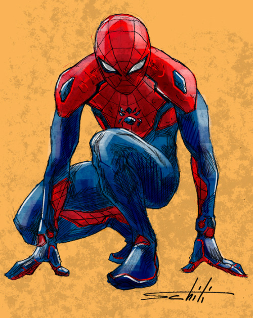 magnificentmarvels:  valerioschiti:  Spider Man redesign  A really awesome Spider-Man design by Valerio Schiti!