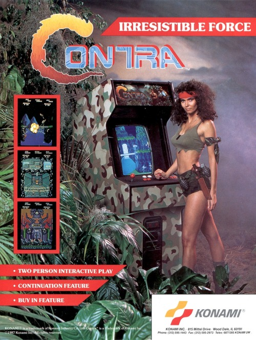 arcadepenny:  Contra 1987  REMEMBER CONTRA?!