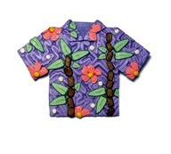 Tropical Shirt Polymer Clay Pin Handmade by SweetchildJewelry via [Enzie Shahmiri Designs]