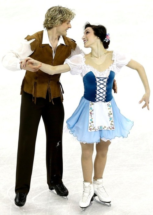 Meryl Davis and Charlie White's Giselle costumes at the 2013 US Nationals.