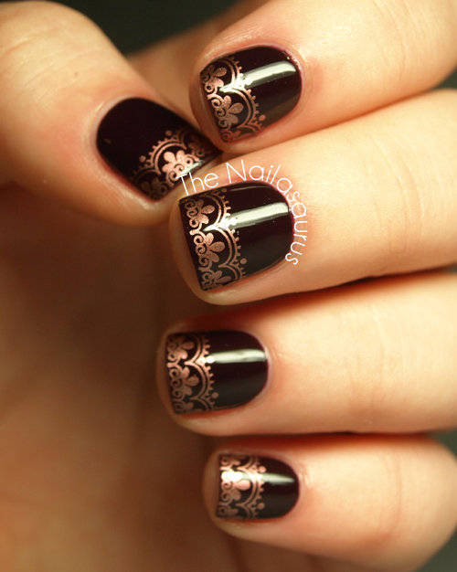 Bronze Nail Stamping #Lockerz