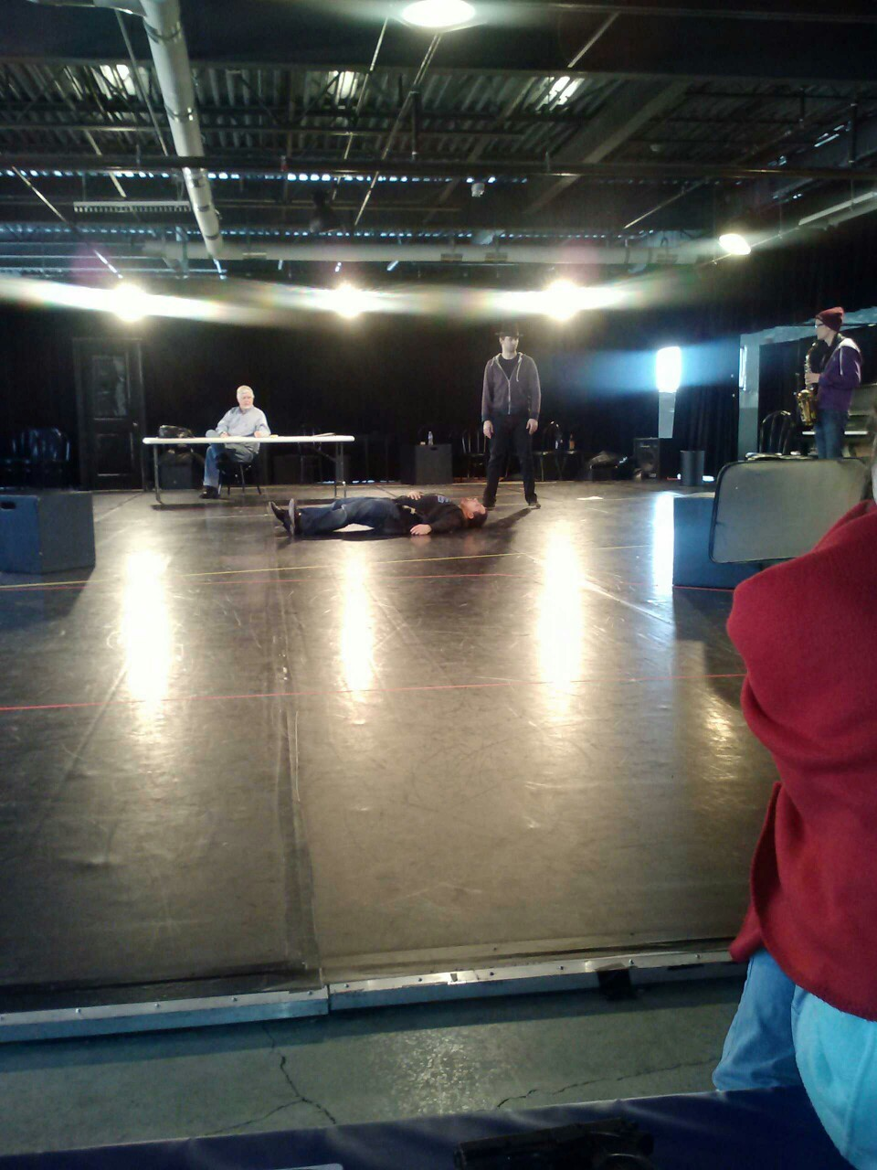 Rehearsals for Suicide in B Flat. 12 days until opening night.
