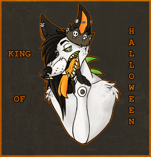 nickolas is the self-proclaimed king of halloween here's a thing of him because he's like my favorite to draw also i gave him long hair for some reason
