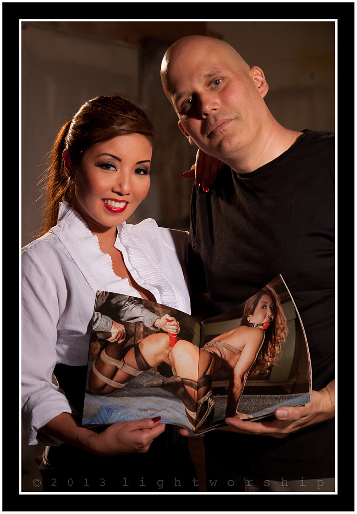 Akira Lane and I with the May 2013 layout I shot for Hustler's Taboo Magazine. ©2013 LIGHTWORSHIP