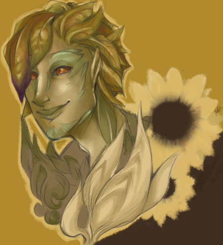 pocketfell:  smiling little sylvari hee hee hee happy little sylvari ho ho ho dumb little sunflower ha ha ha