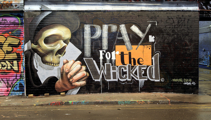 Pray For The Wicked Leake Street http://flic.kr/p/ecBoiV by artofthestate