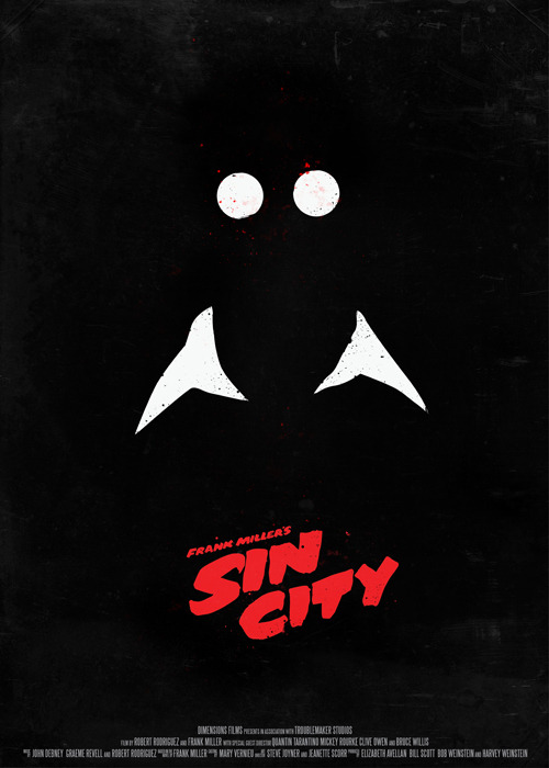 minimalmovieposters:  Sin City by Robert Olah