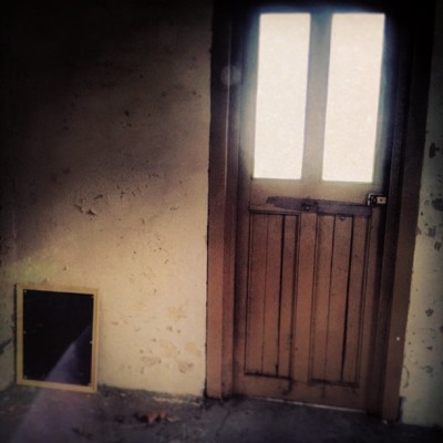 #door #old #building #hospital #mirror
