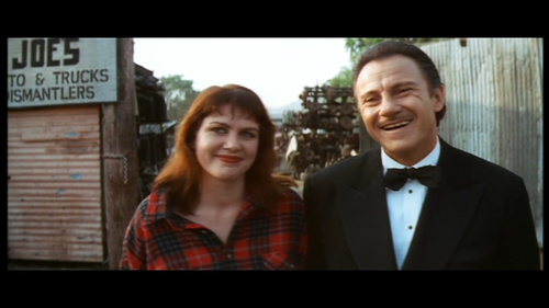 Julia Sweeney and Harvey Keitel, 'Pulp Fiction', via