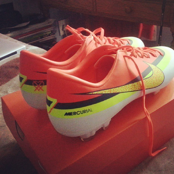 New Soccer Boots thanks mum! #CR7 #Mercurial #Nike #Soccer #TeamFollowBack #Follow