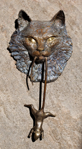 """Ragdoll"" Bronze Cat Door Knocker by casadelgatto"