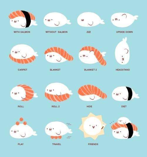 giaaacchan:  Cute Sushi ♥ su We Heart It. http://weheartit.com/entry/53203788