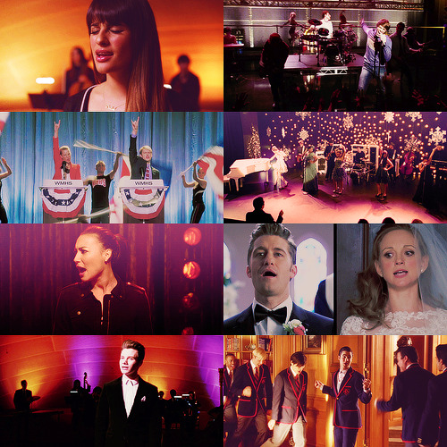 VOTE FOR YOUR FAVORITE SONGS FROM SEASON 4 OF GLEE!  Since there have been so many amazing songs this season I knew it'd be unfair to ask you all to vote on just three songs. So I've divided the songs into Group Performances, Solos, and Duets. You can vote for THREE songs in each category. (Please only vote for three, if you vote more they will be ignored). You can reblog this post and add your answer, or message/submit your votes!  Voting will end Saturday, March 9.  [[MORE]] Vote for your favorite THREE songs in the following categories: Group Performances, Solos, and Duets Group Performances:  Call Me Maybe - Tina, Blaine, Unique, and Brittany Womanizer - Unique, Tina, and Marley 3 - Tina, Sam, and Joe The Way You Look Tonight/You're Never Fully Dressed Without a Smile - Isabelle, Kurt, and Rachel Don't Speak - Rachel, Finn, Blaine, an Kurt The Scientist - Finn, Rachel, Blaine, Kurt, Santana, Brittany, Will, and Emma Born to Hand Jive - Mercedes, Marley, Jake, Kitty, Ryder, Unique, Mike, Brittany, Joe, and Sugar Greased Lightnin' - Ryder, Sam, Artie, Joe, Jake, Finn, and Mike Look at Me, I'm Sandra Dee - Kitty, Unique, Sugar, Brittany, and Tina There Are Worse Things I Could Do - Unique, Santana, and Cassandra You're the One That I Want - Ryder, Marley, Rachel, Finn, Santana, Brittany, Kurt, and Blaine Some Nights - New Directions Homeward Bound/Home - Quinn, Noah, Finn, Mike, Santana, and Mercedes Come See About Me - Quinn, Santana, and Brittany Whistle - Warblers Live While We're Young - Warblers Let's Have A Kiki/Turkey Lurkey Time - Isabelle, Kurt, and Rachel Don't Dream It's Over - Marley, Finn, Blaine, Sam, Tina, Brittany, and New Directions Have Yourself A Merry Little Christmas - Marley, Finn, Sam, Brittany, Noah, Jake, Blaine, Kurt, and New Directions No Scrubs - Blaine, Artie, Sam, Ryder, and Joe Locked Out Heaven - Unique, Marley, Brittany, Tina, and Sugar Centerfold/Hot in Here - Sam, Jake, Ryder, Kitty, Blaine and Joe Love Song - Rachel, Quinn, and Santana This Is The New Year - New Directions Diva - Unique, Brittany, Tina, Kitty, Marley, and Blaine Getting Married Today - Will, Emma, and Mercedes  We've Got Tonight - Rachel, Finn, Santana, Quinn, Kurt, Blaine, Marley, Jake, Artie, and Betty Anything Could Happen - Marley, Artie, Jake, and New Directions  Solos:  Americano/Dance Again - Cassandra July Never Say Never - Jake Puckerman It's Time - Blaine Anderson Chasing Pavements - Marley Rose and New Directions Hold it Against Me - Brittany Pierce Oops I Did It Again - Rachel Berry Gimme More - Brittany Pierce and New Directions Everytime - Marley Rose Everybody Wants to Rule the World - Blaine Anderson Teenage Dream [Acoustic] - Blaine Anderson Mine - Santana Lopez Hopelessly Devoted To You - Blaine Anderson  Beauty School Dropout - Blaine Anderson Look At Me, I'm Sandra Dee (Reprise) - Marley Rose Dark Side - Blaine Anderson and Warblers Gangnam Style - Tina Cohen-Chang and New Directions Being Good Isn't Good Enough - Rachel Berry O Holy Night - Rachel Berry Being Alive - Kurt Hummel  Feliz Navidad - Artie Abrams Jingle Bell Rock - Sam Evans The First Noel - Marley Rose I Don't Know How To Love Him - Tina Cohen-Chang Baby Got Back - Adam Crawford and The Adam's Apples I Only Have Eyes For You - Ryder Lynn Torn - Rachel Berry Let Me Love You (Until You Learn To Love Yourself) - Jake Puckerman Don't Stop Me Now - Blaine Anderson and New Directions Nutbush City Limits - Santana Lopez Bring Him Home - Rachel Berry Bring Him Home - Kurt Hummel Hung Up - Tina Cohen-Chang Girl On Fire - Santana Lopez  Duets:  New York State of Mind - Rachel Berry and Marley Rose Boys/Boyfriend - Artie Abrams and Blaine Anderson Crazy/(You Drive Me) Crazy - Jake Puckerman and Marley Rose Celebrity Skin - Sam Evans and Brittany Pierce A Change Would Do You Good - Rachel Berry and Brody Weston Barely Breathing - Blaine Anderson and Finn Hudson Give Your Heart A Break - Rachel Berry and Brody Weston (Blow Me) One Last Kiss - Unique and Marley Rose Juke Box Hero - Ryder Lynn and Finn Hudson Everybody Talks - Kitty Wilde and Jake Puckerman Superman - Ryder Lynn and Jake Puckerman Holding Out For A Hero - Marley Rose and Kitty Wilde Heroes - Sam Evans and Blaine Anderson Something Stupid - Sam Evans and Brittany Pierce All That Jazz - Rachel Berry and Cassandra July White Christmas - Blaine Anderson and Kurt Hummel Oh Hanukkah - Jake Puckerman and Noah Puckerman Tell Him - Brittany Pierce and Marley Rose A Thousand Years - Marley Rose and Jake Puckerman Make No Mistake She's Mine - Santana Lopez and Sam Evans Bring Him Home - Rachel Berry and Kurt Hummel You're All I Need To Get By - Marley Rose and Jake Puckerman Just Can't Get Enough - Blaine Anderson and Kurt Hummel  *The top 10 songs will be posted (as gifs or album covers) for each category after I am done counting all votes**If I missed a performance please let me know and/or if you have questions!