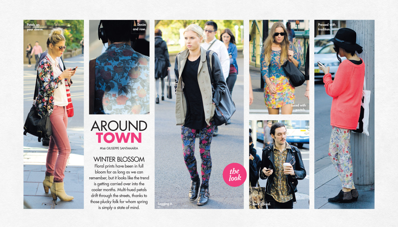Florals in winter, Around Town in The Sun-Herald's Sunday Life Magazine.