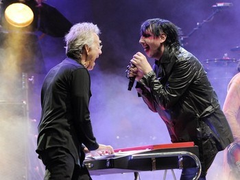 Manzarek and Marilyn Manson of all people.