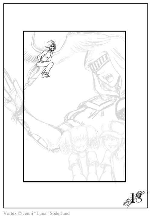 This be the sketch for page 18 of Vortex! :D   Read my comic at http://vortex.smackjeeves.com