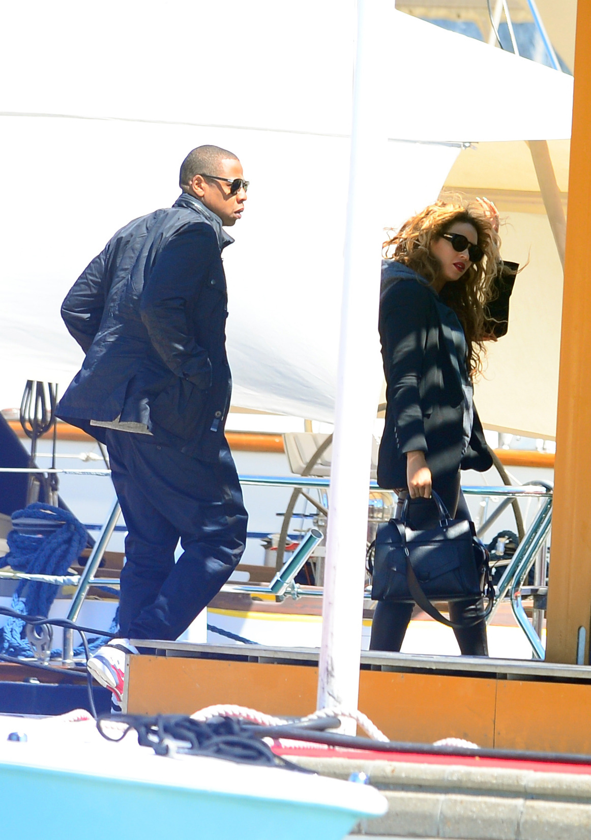 fashionsslut:   Beyoncé & Jay-Z in France (20/5)   Fashionsslut.tumblr.com