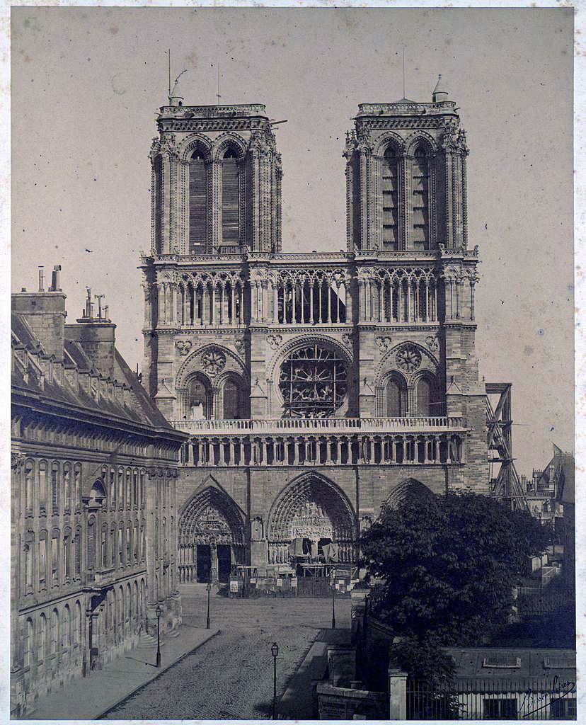 Notre Dame in the 1850's, Paris